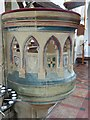 SP8104 : Monks Risborough - St Dunstan's - Pulpit (left side) by Rob Farrow