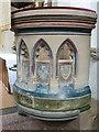 SP8104 : Monks Risborough - St Dunstan's - Pulpit (right side) by Rob Farrow