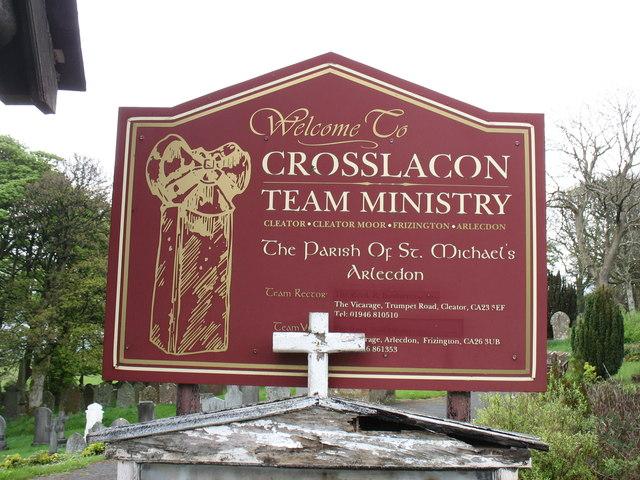St Michael's church sign