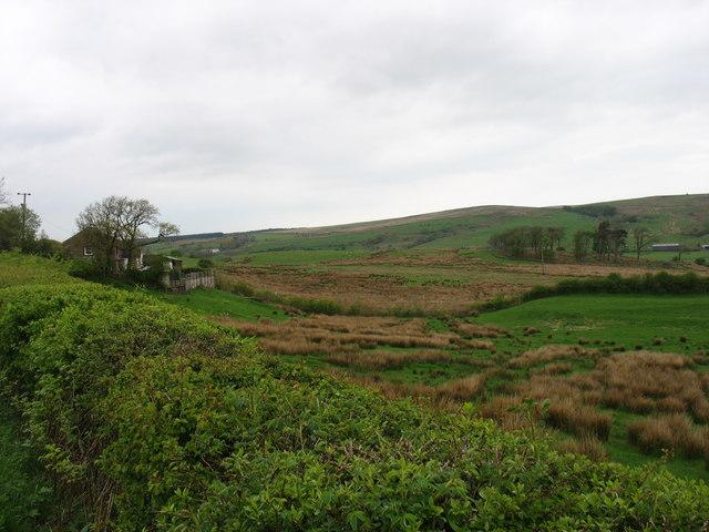 Rough farmland near Asby