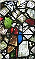 SP8104 : Reassembled mediaeval stained glass - detail (1) by Rob Farrow