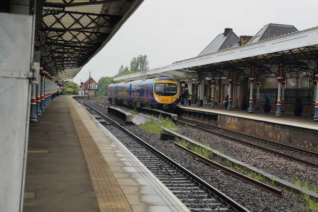 Manchester Airport Train Arrives at Middlesbrough