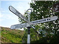 NT5870 : East Lothian County Council Fingerposts : Garvald by Richard West