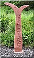 SJ9594 : Fossil Tree milepost by Gerald England