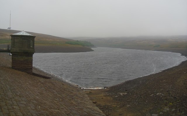 Walshaw dean middle reservoir.