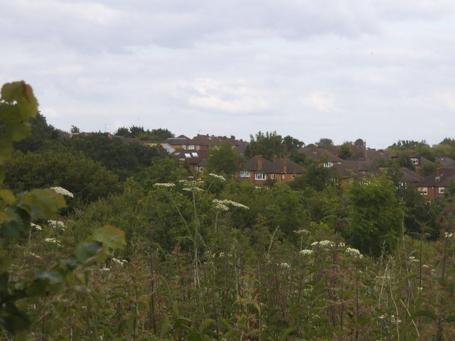 View across Woodside Park from the fields
