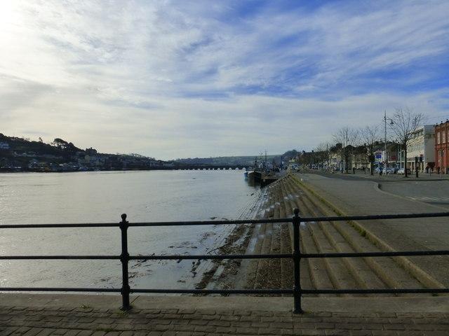 Bideford Quay, Long Bridge and the River Torridge
