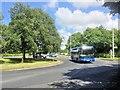 SD5719 : Roundabout on Euxton Lane by David Dixon