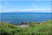 NS2515 : Shoreline at Dunure Castle by Billy McCrorie