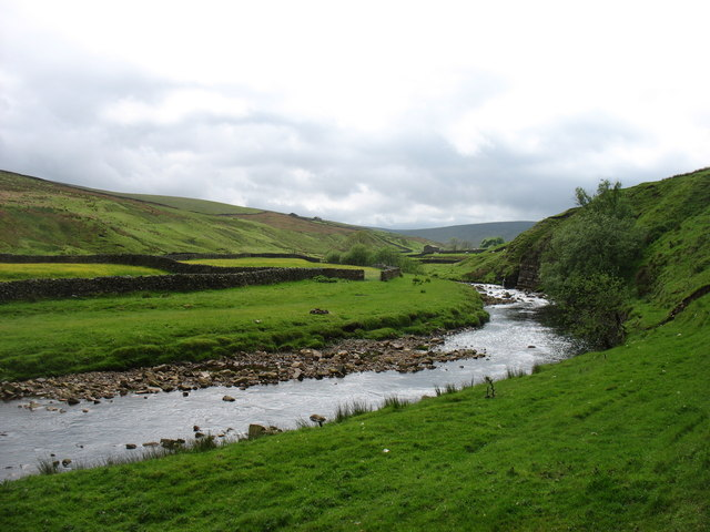 The upper reaches of the River Swale