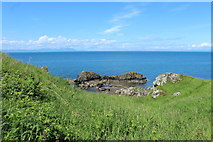 NS2515 : Rocks at Dunure by Billy McCrorie