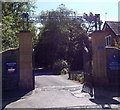 ST0280 : Entrance to Talygarn Manor and Country Park by Jaggery