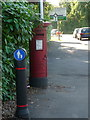 SZ0596 : Bear Cross: a postbox has a change of scenery by Chris Downer