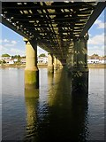 TQ1977 : View below Kew railway bridge by Stefan Czapski