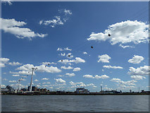 TQ3980 : Emirates Cable Car over The Thames by Christine Matthews