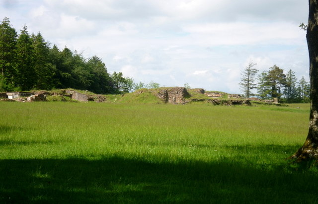 """The ruins of """"Dartrey Castle"""" which overlook Inner Lough and Black Island"""