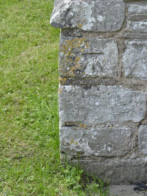 Bench mark, St Radegund's Church, Maplebeck