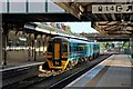 SJ3250 : Arriva Trains Wales Class 158, 158834, Wrexham General railway station by El Pollock