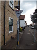 TM0321 : Give Way at the end of Marsh Crescent by Hamish Griffin