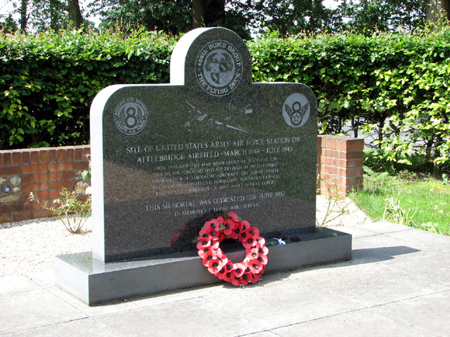 466th Bomb Group memorial stone