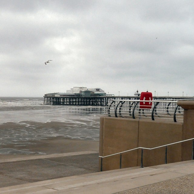 North Pier and a receding tide