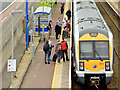 J3775 : Train and passengers, Sydenham, Belfast (June 2014) by Albert Bridge