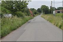 SK7476 : Entering Upton, Nottinghamshire by J.Hannan-Briggs