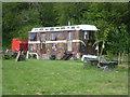 TQ7140 : Gypsy caravan near Grovehurst Road by Marathon