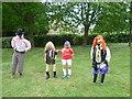 TQ7237 : Entries for the Best Scarecrow at the Goudhurst Village Fête by Marathon