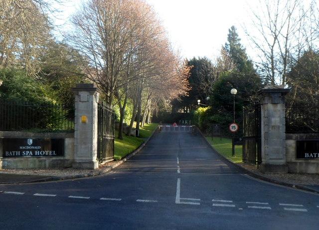 Entrance drive to Macdonald Bath Spa Hotel