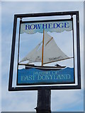 TM0321 : Rowhedge/East Donyland sign (close up) by Hamish Griffin