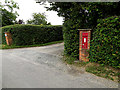 TM0859 : Pipers Hall entrance & Bell's Cross Victorian Postbox by Adrian Cable