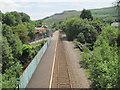 SS9795 : Ton Pentre railway station, Rhondda Cynon Taf by Nigel Thompson