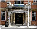 TQ3182 : Entrance, former Finsbury Town Hall by Julian Osley