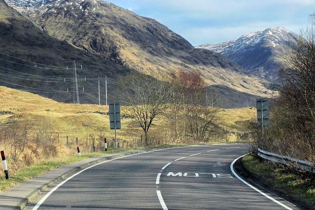 A85, East of Lochawe
