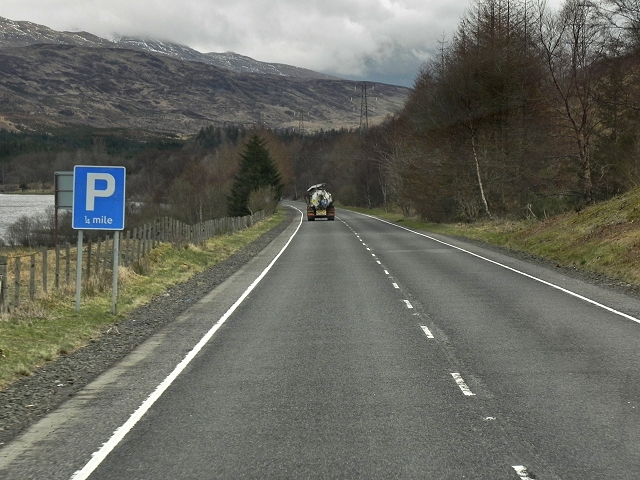 A85 Passing Loch Lubhair