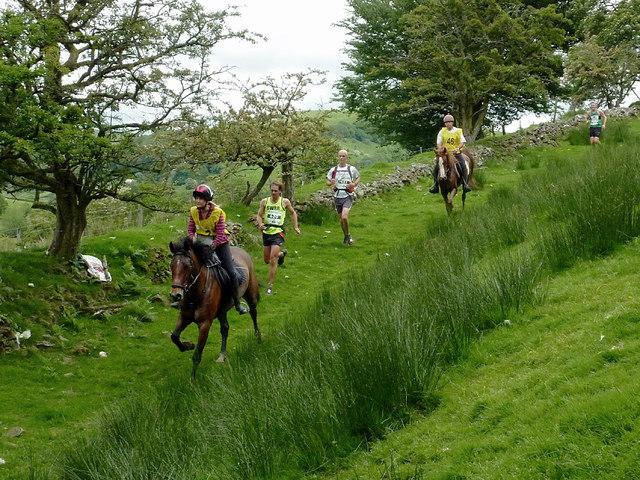 Man versus Horse marathon event near Abergwesyn, Powys