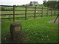 NY5919 : Commemorative stone, Sleagill by Karl and Ali