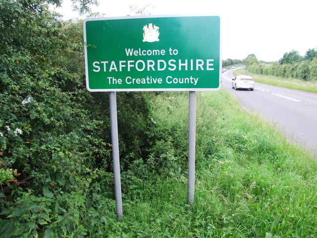 Staffordshire county boundary sign