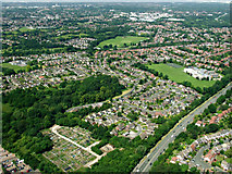 SJ8587 : Gatley from the air by Thomas Nugent