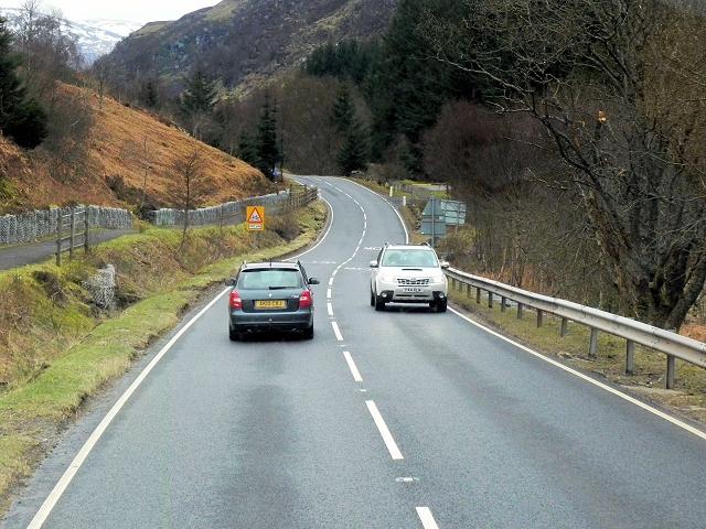 A85 Southbound in Glen Ogle