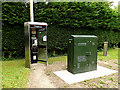 TL9756 : Telephone Box and Broadband Fibre Cabinet by Geographer