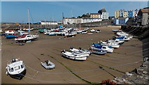 SN1300 : Low tide in Tenby Harbour by Jaggery
