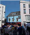 SN1300 : Crowds near Lifeboat Tavern, Tenby by Jaggery