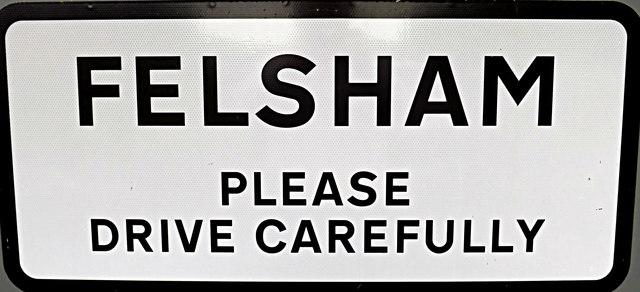 Felsham Village Name sign