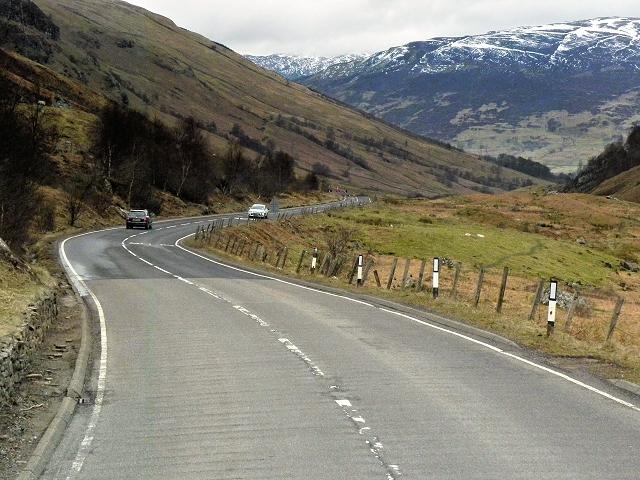 Southbound A85 in Glen Ogle