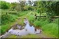 NT5336 : Flooded track, Southern Upland Way near Deadwife's Grave by Jim Barton