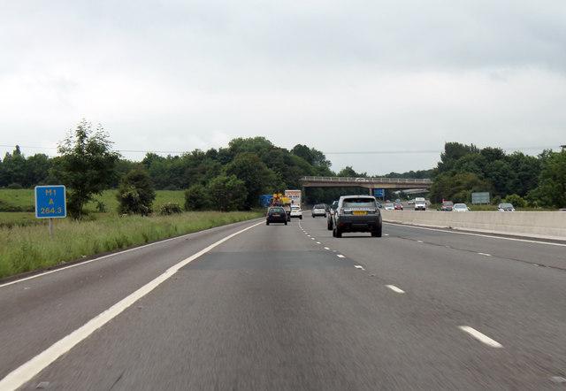 M1 motorway northbound