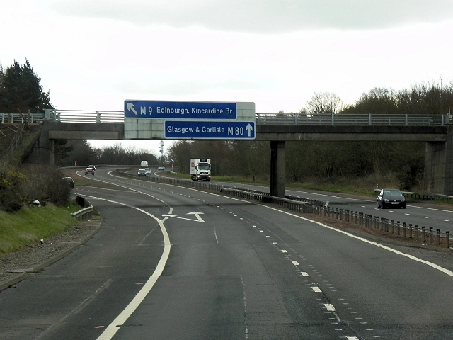 Newline Road Bridge and Direction Signs, M9/M80 Junction
