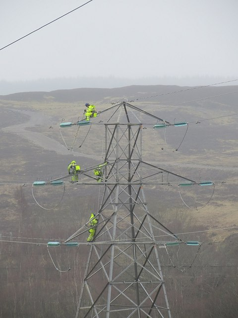 Dismantling power lines